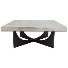 Heinz Lilienthal Etched Metal Coffee Table, circa 1970, Germany