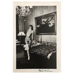 Helmut Newton Signed Photo-Lithography