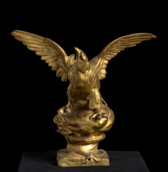 Bronze Sculpture of Eagle as Jupiter By Henri Levasseur Signed
