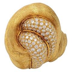 Henry Dunay 'Sabi' Gold and Diamond Pave Ring