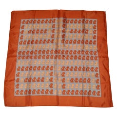 Here, Kitty Kitty Kitty With Golden Brown Borders Scarf