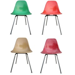 Herman Miller Eames Eames Multicolored Dining Chairs Set