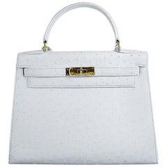 Hermes 28cm White Kelly Bag