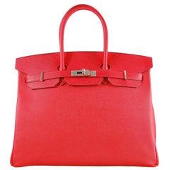 Hermes 35cm Rouge Casaque Birkin Bag