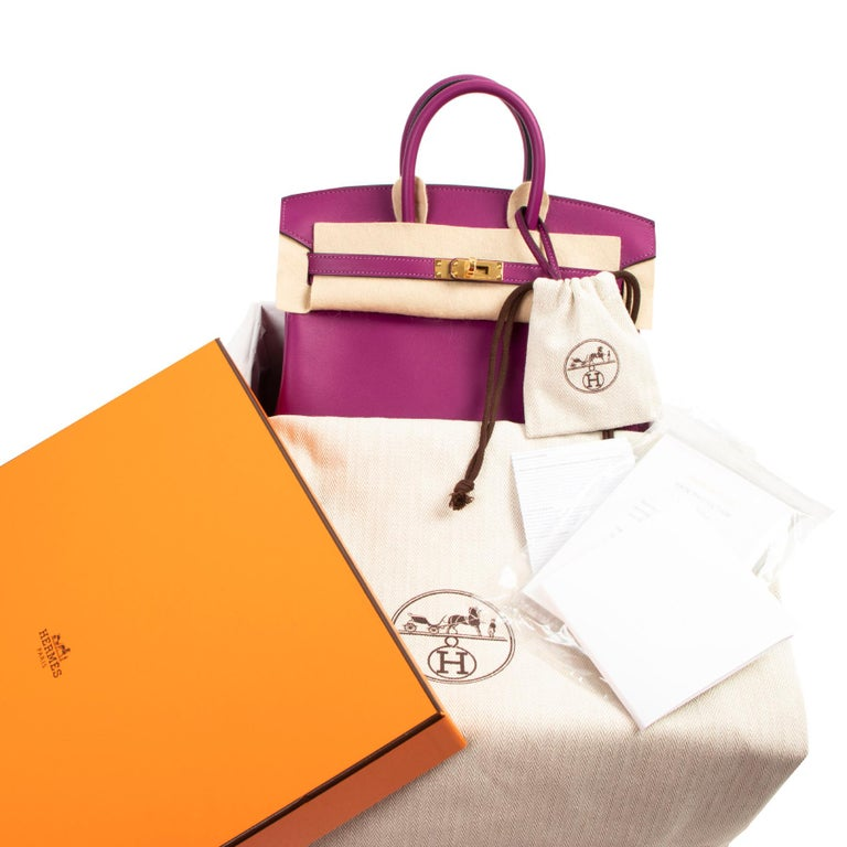 NEVER USED , NEW  Hèrmes Birkin 25 Anemone Swift GHW  Labellov presents only the best of the best another holy grail of many, The Hermès Birkin. There is no designer handbag in the world as elusive and exclusive as the Birkin. This coveted design