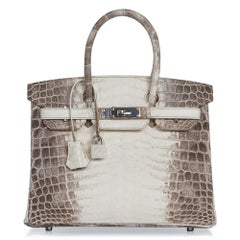 Hermes Birkin 30 Bag Exquisite Blanc Himalaya Palladium Hardware
