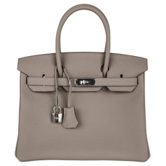 Hermes Birkin 30 Bag Gris Asphalte Togo Palladium Hardware