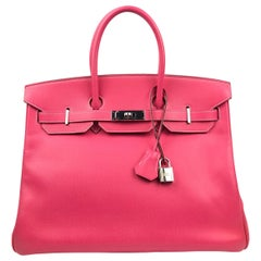 Hermes Birkin 35 Rose Tyrien Pink Candy Collection Rubis Palladium Hardware