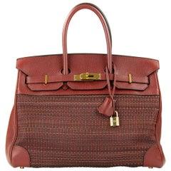 Hermes Birkin Bag 35cm Rouge H Buffalo Crinoline Birkin GHW (Pre Owned)