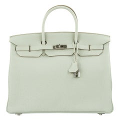 Hermes Birkin Bag 40cm Gris Mouette Togo PHW