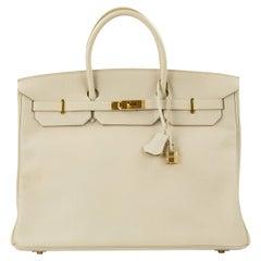 Hermes Birkin Bag 40cm Poudre Togo GHW