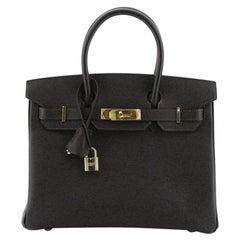 Hermes Birkin Handbag Ebene Epsom with Gold Hardware 30