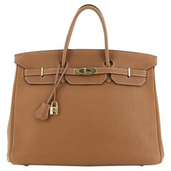 Hermes Birkin Handbag Gold Togo with Gold Hardware 40