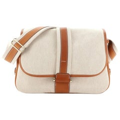 Hermes Bourlingue Messenger Bag Toile with Leather