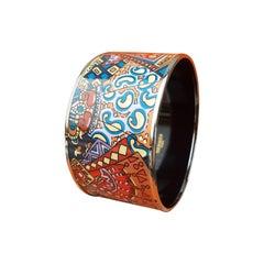 Hermès Enamel Bracelet Scheherazade Geometric Pattern Extra Large Phw Size 70