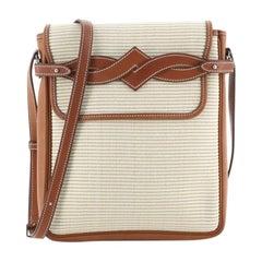 Hermes Flap Shoulder Bag Crinoline with Leather Small