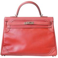 Hermès Ghillies 35cm Palladium H/W Kelly Retourne Bag