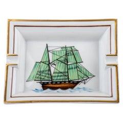 Hermes Green Vessel Porcelain Ashtray