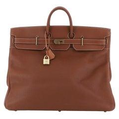 Hermes HAC Birkin Bag Etrusque Fjord with Gold Hardware 55