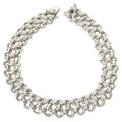 Hermès Inti Collection Silver Choker Necklace