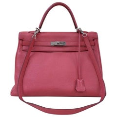 Hermès Kelly 35 Leather Handbag