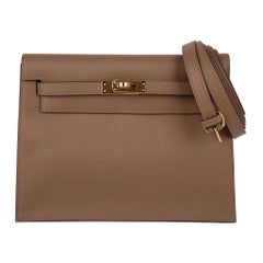 Hermes Kelly Danse Bag Beige de Weimar Swift Gold Hardware New w/ Box