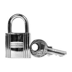 Hermes Palladium Cadena Lock and Key Set #100