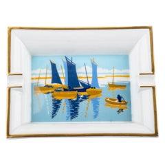 Hermes Sailing Boats Porcelain Ashtray