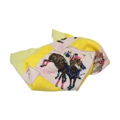 Hermes scarf «carré» polo player print