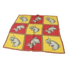 Hermès scarf «carré» rabbit print
