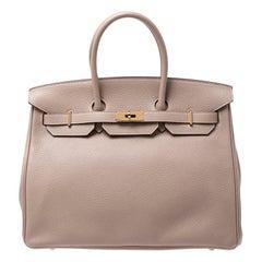 Hermes Trench Togo Leather Gold Hardware Birkin 35 Bag