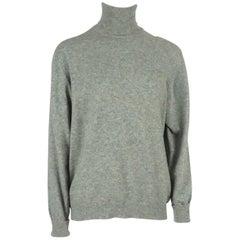 Hermes Vintage Gray Cashmere Turtleneck Sweater - 44 - Circa 1960's / 1970's