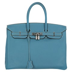 Hermes Woman Birkin 35 Blue