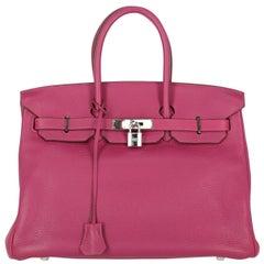 Hermes Women's Birkin 35 Purple Leather