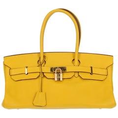 Hermes Women's Shoulder Bag Birkin Shoulder Yellow Leather