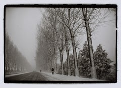 "Hideoki, Black & White Photography, Bicycles, Guilin, China, 1998, 16"" x 20"""