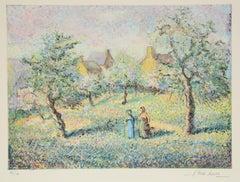 Arbres en Fleurs, Aquatint Landscape, hand-signed