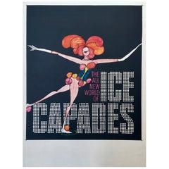 Ice Capades Entertainment Show Original Vintage Ice Skating Poster, 1969