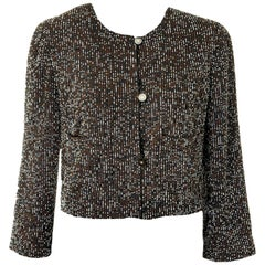 Iconic Chanel Demi-Couture Signature Fully Beaded Evening Jacket