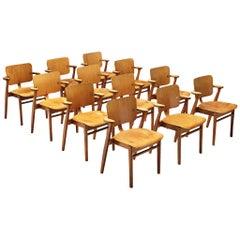Ilmari Tapiovaara Set of Twelve 'Domus' Dining Chairs