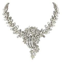 Impressive Diamond Necklace in White Gold 18 Karat