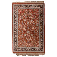 Indian Persian Floral Shah Abbas Rug, 20th Century