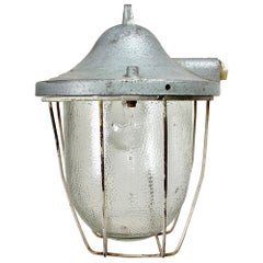 Industrial Bunker Lamp from Polam Gdansk, 1960s