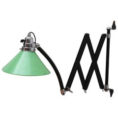 Industrial Design Scissors Wall Lamp Vienna, 1940