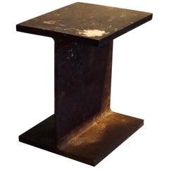 Industrial Modernist Raw Steel Patinated I Beam Pedestal