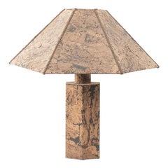 Ingo Mauer Style Cork Lamp, circa 1970