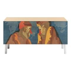 Intarsia Sideboard by Emilio Tadini