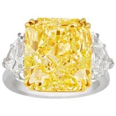 Internally Flawless Fancy Yellow Diamond Ring, 10.67 Carat