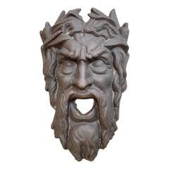 Iron Bacchus Face Spout