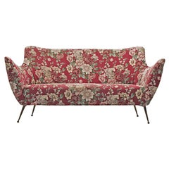 ISA Bergamo Sofa in Red Floral Fabric